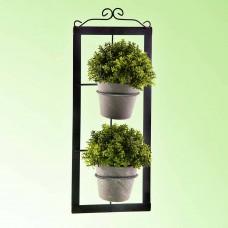 Juego de 2 plantas artificiales con aplique de pared