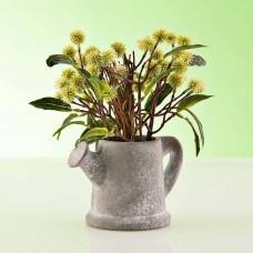 Planta artificial Flores con maceta regadera