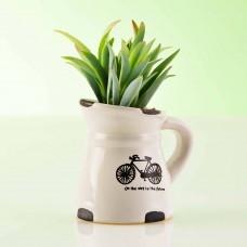 Mini planta artificial Suculenta con maceta jarra