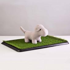 Alfombra césped sintético para mascotas 2 piezas