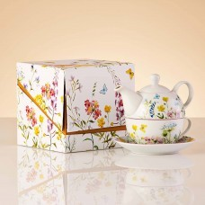 Tetera / Taza / Plato con caja de regalo Flores Haus