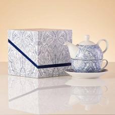 Tetera / Taza / Plato con caja de regalo Mediterráneo Haus