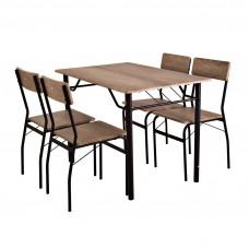 Comedor rectangular 4 puestos Habano