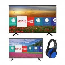 "Riviera TV LED digital ISDB-T Smart 50"" 50HIK6155+ TV LED Smart 32"" 32HIKN18 + Audífonos BT"