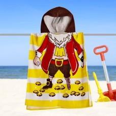 Toalla Poncho Infantil Pirata