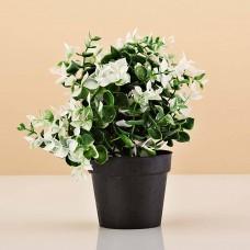 Planta artificial pequeña con maceta negra Haus