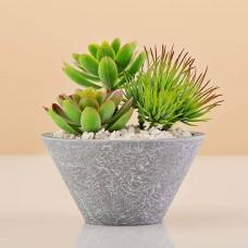 Mini planta artificial Terrario Verde con maceta Haus