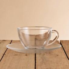 Juego de taza y plato Diamante Clear Nadir Marinex