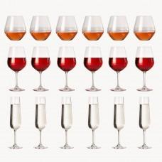 Juego de copas para vino / champagne y vasos Martha Navigator