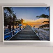 Cuadro con marco Paisaje Atardecer Playa