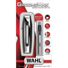 Cortador para barba a batería con corta vellos / estuche 11 piezas Groomsman Wahl