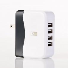 Cargador para pared 4.9Amp con 4 puertos USB Case Logic
