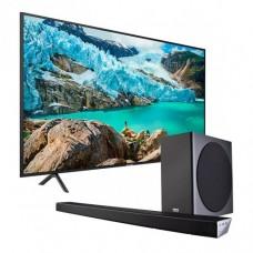 """Samsung TV ISDB-T Smart UHD 4K 3 HDMI / 2 USB + Barra de sonido 70"""" UN70RU7100PXPA"""