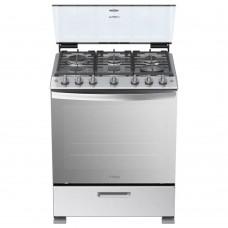 Whirlpool Cocina a gas con 6 quemadores / Puerta Side Door / Parrilla Autodeslizable / Encendido Auto LWFR5100S