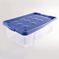 Caja organizadora con ruedas Modular Clear / Surtido