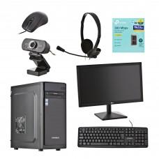 "PC Core i3-9100 3.6GHz 4GB / 1TB / DVD / 2GB Video / Wi-Fi / Windows 10 Home 19.5"" Xtratech"