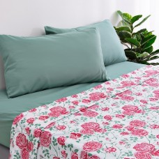Juego de sábanas Flor Rosa