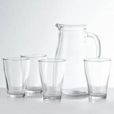 Jarra con vasos 5 piezas Bari