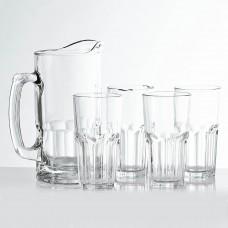 Jarra con vasos 5 piezas Siena
