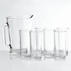 Jarra con vasos 7 piezas Soave