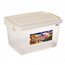 Caja organizadora móvil con tapa Clear / Beige