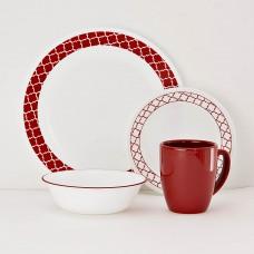 Vajilla de 16 piezas Crimson Trellis Corelle
