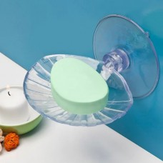 Jabonera adherente para baño Concha Clear