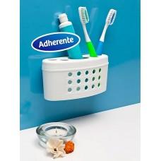Porta cepillos de dientes adherente
