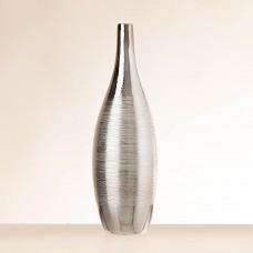 Florero botella Líneas Calado Silver