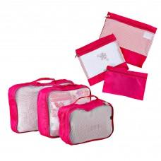 Organizador con malla para maleta de viaje 6 piezas
