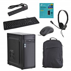 Xtratech CPU Core i3-9100 4GB / 1TB / 2GB de video Windows 10 Home con Teclado / Mouse / Audífonos