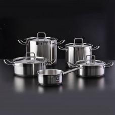 Juego de ollas de acero inoxdiable para inducción 9 piezas Profesional Bra