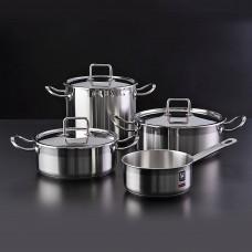 Juego de ollas de acero inoxdiable para inducción 7 piezas Profesional Bra
