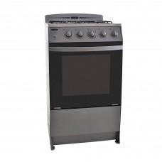 "Ecoline Cocina a gas 4 quemadores con termocontrol 21"" Silver Jane"
