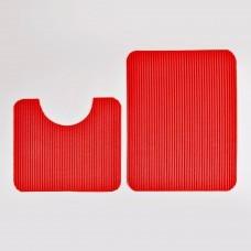 Juego de 2 alfombras para baño antidezlizantes / antibacteriales