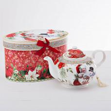Tetera Santa / Snowman con caja de regalo