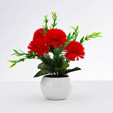 Planta artificial Clavel con maceta Haus