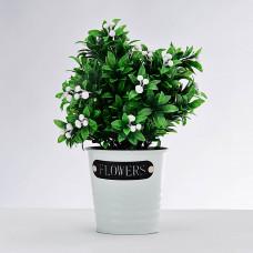 Planta artificial Follaje Flor con maceta Haus