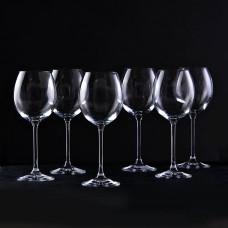 Juego de 6 copas para vino tinto Venezia Krosno Glass