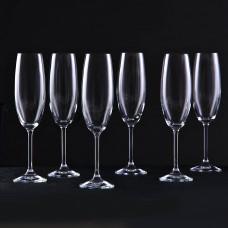 Juego de 6 copas para champagne Venezia Krosno Glass