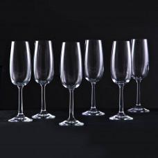 Juego de 6 copas para champagne Pure Krosno Glass