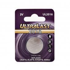 Pila de botón CR2016 3V UltraLast