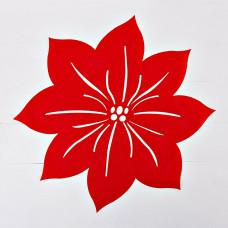 Tapete Flor Navidad Velvet Poma Rosa