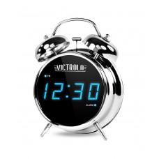 "Reloj / Despertador digital 8"" Clásico Silver V50-500 Victrola"