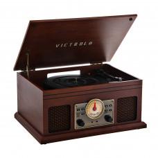 Tocadiscos 3 velocidades BT / AUX / Radio FM / Parlantes incorporados VTA-250B-MAH Victrola