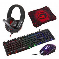 Teclado + Mouse + Audífonos + Pad Gaming CM370 Scorpion
