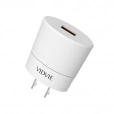 Cargador de pared 1 USB / 2.0mAh PLM308Q VIDVIE