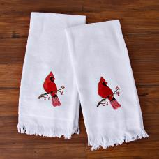 Juego de 2 toallas de tocador Pájaro Cardenal San Pedro
