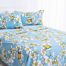 Juego de sábanas Flores Aqua Haus