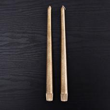 Juego de 2 velas para candelabros Textura Escarcha